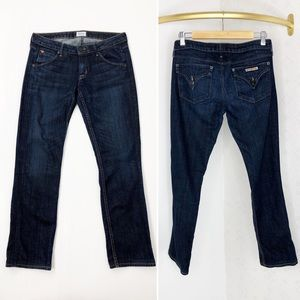 Hudson Carly Flap Straight Leg Jeans